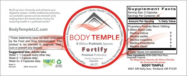Fortify label ingredients
