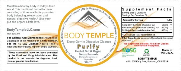 Purify label ingredients